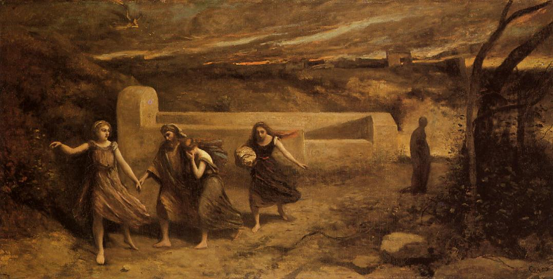 The Destruction of Sodom, Oil On Canvas by Jean Baptiste Camille Corot (1796-1875, France)