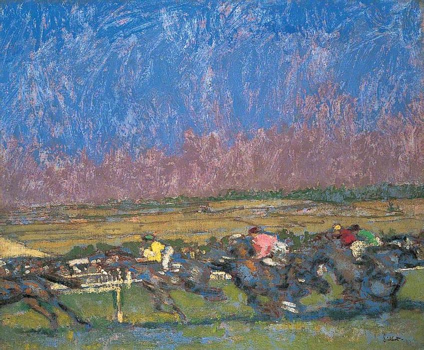 Dieppe Races, 1920 by Walter Richard Sickert (1860-1942, Germany) | Reproductions Walter Richard Sickert | WahooArt.com