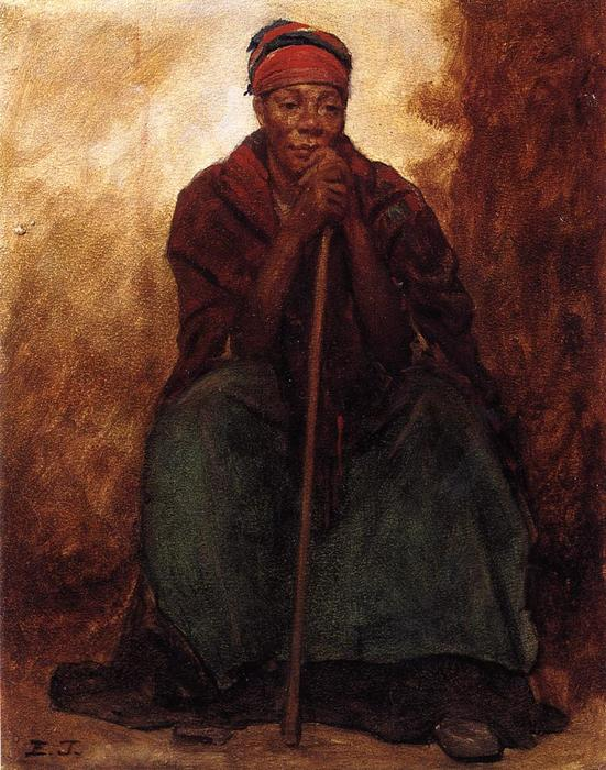Dinah, Portrait of a Negress, 1866 by Jonathan Eastman Johnson (1824-1906, United Kingdom)