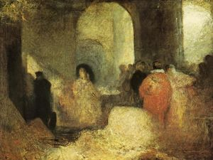 William Turner - Dinner in a Great Room with Figures in Costume