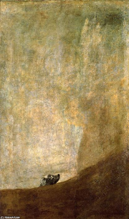 Dog, 1820 by Francisco De Goya (1746-1828, Spain) | Famous Paintings Reproductions | WahooArt.com