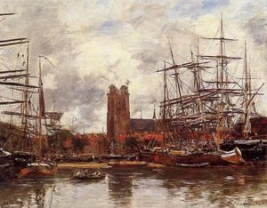 Eugène Louis Boudin - Dordrecht, View of the Port