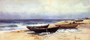 Alfred Thompson Bricher - Dories Along a Shore