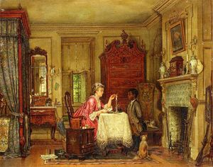 Edward Lamson Henry - Drafting the Letter
