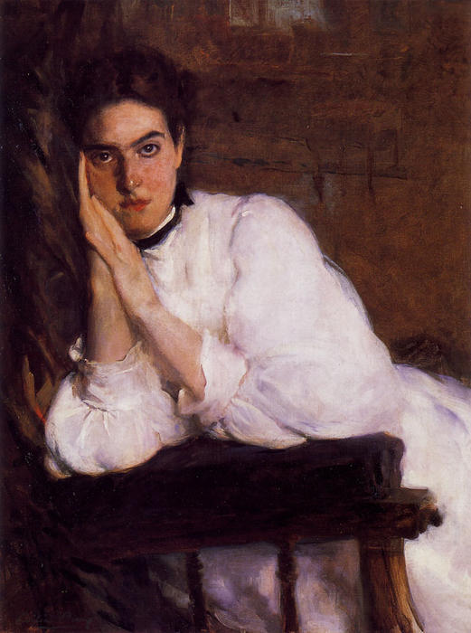 The Dreamer, Oil On Canvas by Cecilia Beaux (1855-1942, United States)