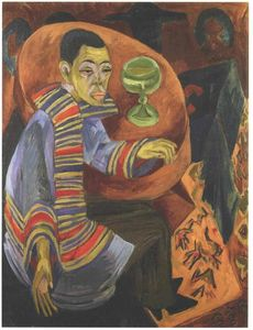 Ernst Ludwig Kirchner - The Drinker (self-portrait)