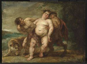 Peter Paul Rubens - Drunken Bacchus with Faun and Satyr