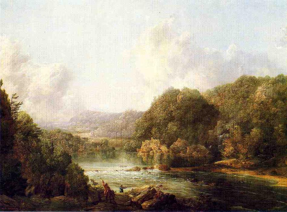 Duck Hunters on the Ohio River, 1850 by William Louis Sonntag (1822-1900, United States) | Oil Painting | WahooArt.com