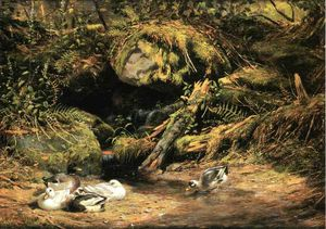 Arthur Fitzwilliam Tait - Ducks at the Spring Head