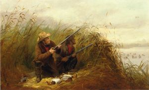 Arthur Fitzwilliam Tait - Duck Shooting with Decoys