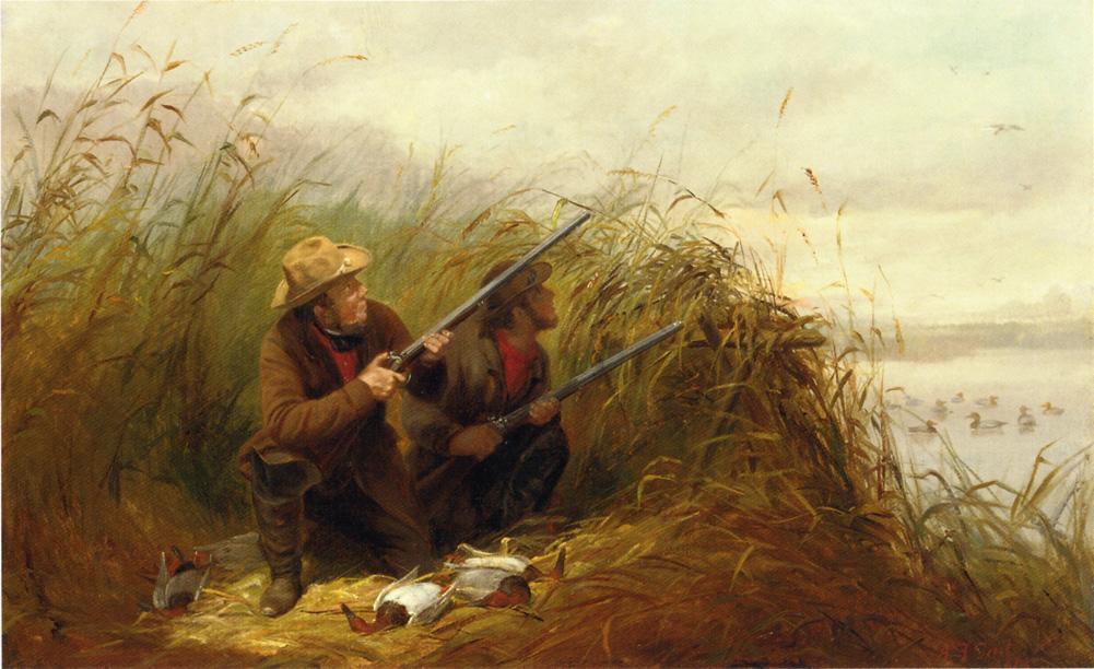 картины художников на тему об охоте и рыбалке