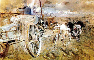 Giovanni Boldini - The dump at the door of Asier