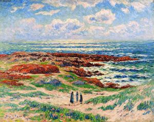 Henri Moret - The Dunes of Tregune, Finistere