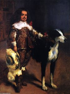 John Singer Sargent - Dwarf with a Dog (after Velazquez)