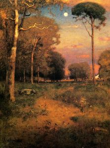 George Inness - Early Moonrise, Florida (also known as Early Morning, Florida)
