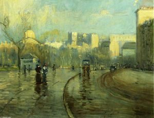 Arthur Clifton Goodwin - Early Morning, Tremont Street, Boston