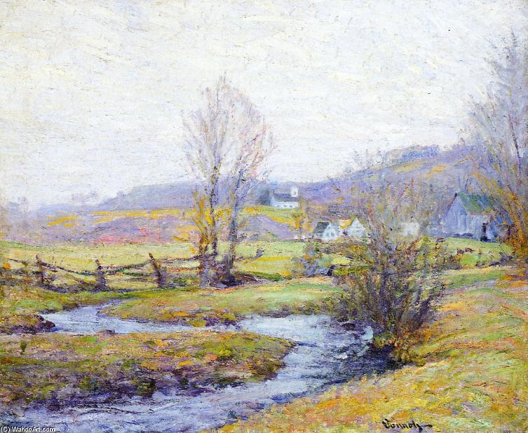 Early Spring, Pleasant Valley, Connecticut, 1916 by Robert William Vonnoh (1858-1933) | Reproductions Robert William Vonnoh | WahooArt.com