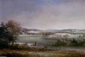 Thomas Doughty - Early Winter, Hiawatha Island, Owego, New York