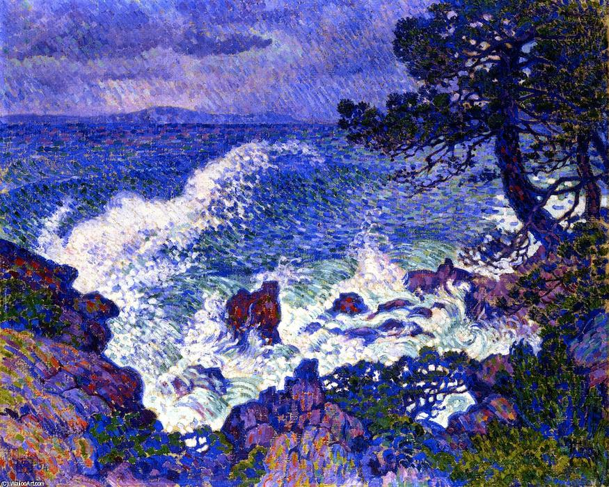 Order Art Reproduction : East Wind, 1904 by Theo Van Rysselberghe (1862-1926, Belgium) | WahooArt.com