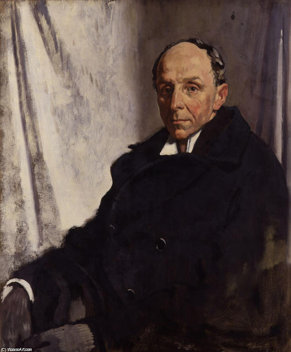 Edgar Algernon Robert Gascoyne Cecil, 1st Viscount Cecil of Chelwood by William Newenham Montague Orpen (1878-1931, Ireland) | Art Reproduction | WahooArt.com