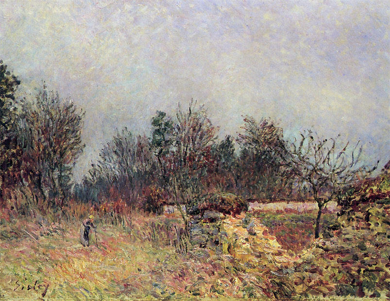 Edge of the Forest, December, Oil On Canvas by Alfred Sisley (1839-1899, France)