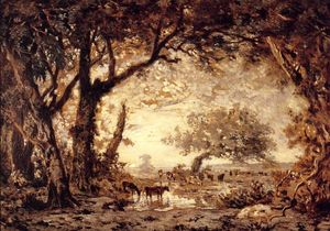 Théodore Rousseau (Pierre Etienne Théodore Rousseau) - Edge of the Forest of Fontainebleau
