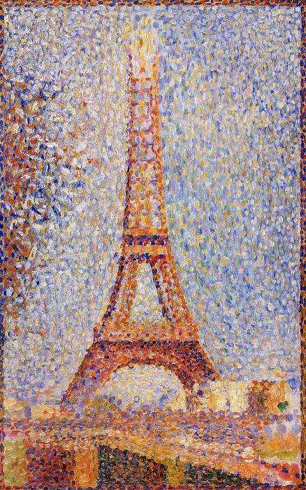 The Eiffel Tower, Oil by Georges Pierre Seurat (1859-1891, France)
