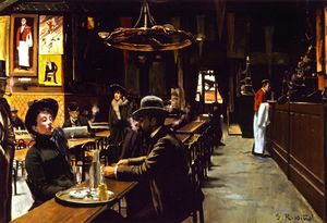 Santiago Rusiñol Y Prats - El Cafe de Montmartre (also known as Cafe de los Incoherentes)