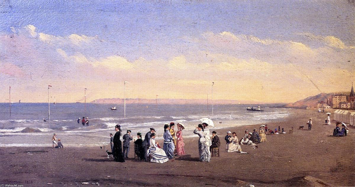 Order Art Reproduction : Elegant Figures on a Seashore, 1878 by Conrad Wise Chapman (1842-1910, United States) | WahooArt.com