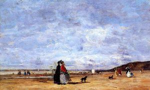 Eugène Louis Boudin - Elegant Women on the Beach