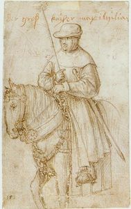 Hans Holbein The Elder - Emperor Maximilian on Horseback