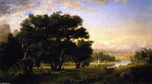 Ralph Albert Blakelock - Encampment along the Snake River