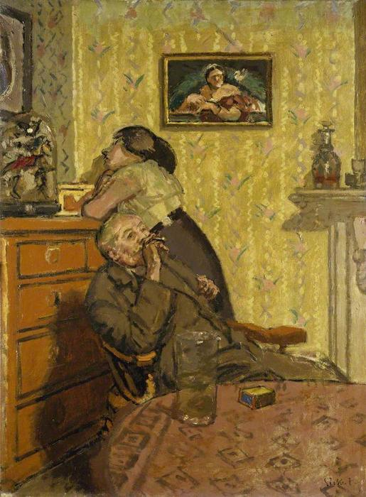 Order Reproductions | Ennui, 1917 by Walter Richard Sickert (1860-1942, Germany) | WahooArt.com
