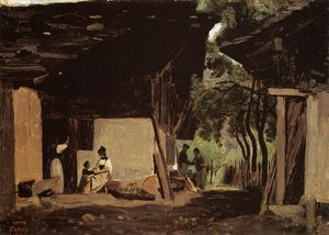 Jean Baptiste Camille Corot - Entrance to a Chalet in the Bernese Oberland