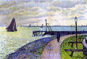 Theo Van Rysselberghe - Entrance to Volendam Harbour