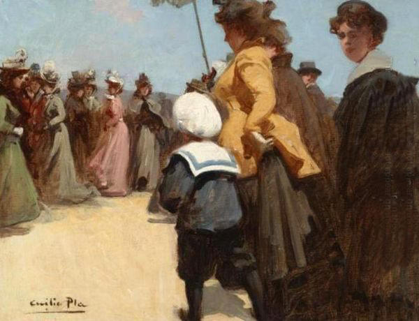 Escena estival by Cecilio Pla Y Gallardo (1860-1934, Spain) | Famous Paintings Reproductions | WahooArt.com