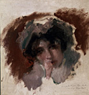 Order Painting Copy : Estudio de Cabeza by Emilio Sala Y Frances (1850-1910, Spain) | WahooArt.com