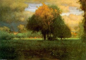 George Inness - Evening Glow