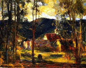 Joseph Kleitsch - Evening LIght, Laguna