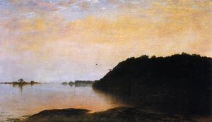 John Frederick Kensett - Evening on Contentment Island