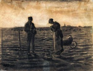 Vincent Van Gogh - The Evening Prayer (after Millet)