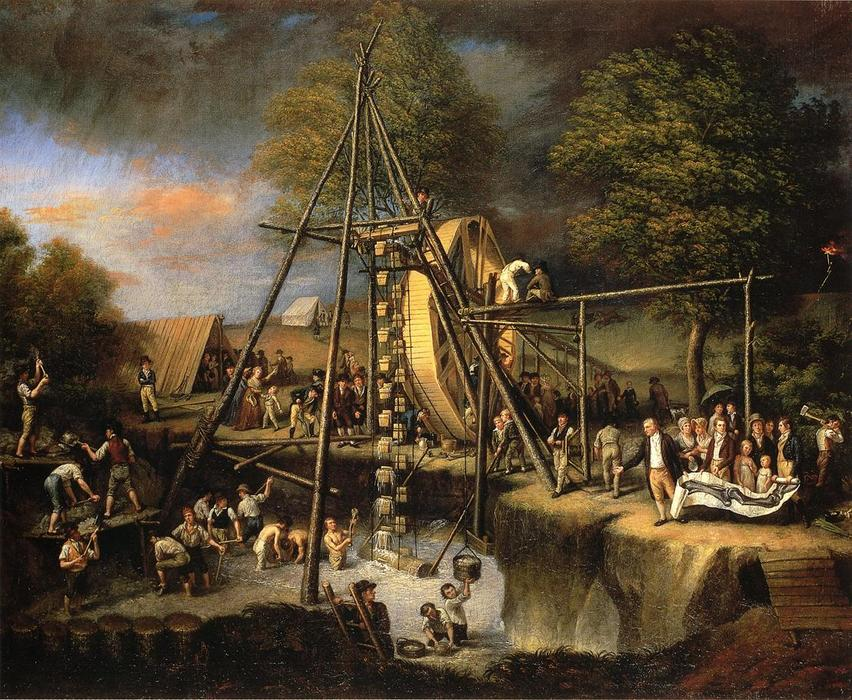 Exhumation of the Mastadon, 1805 by Charles Willson Peale (1741-1827, United Kingdom) | Museum Art Reproductions Charles Willson Peale | WahooArt.com