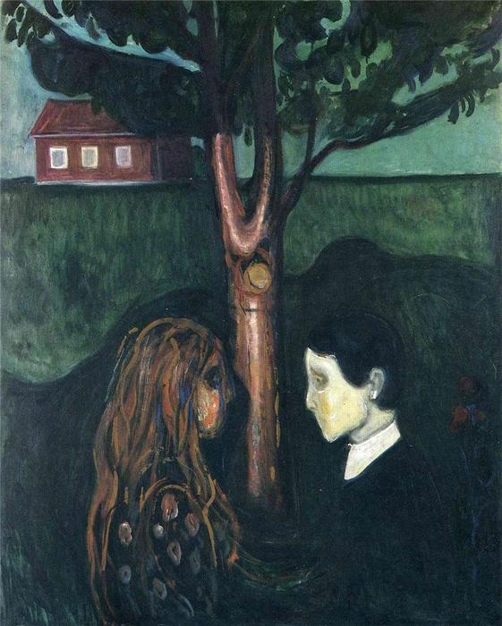 Eye in Eye, Oil On Canvas by Edvard Munch (1863-1944, Sweden)