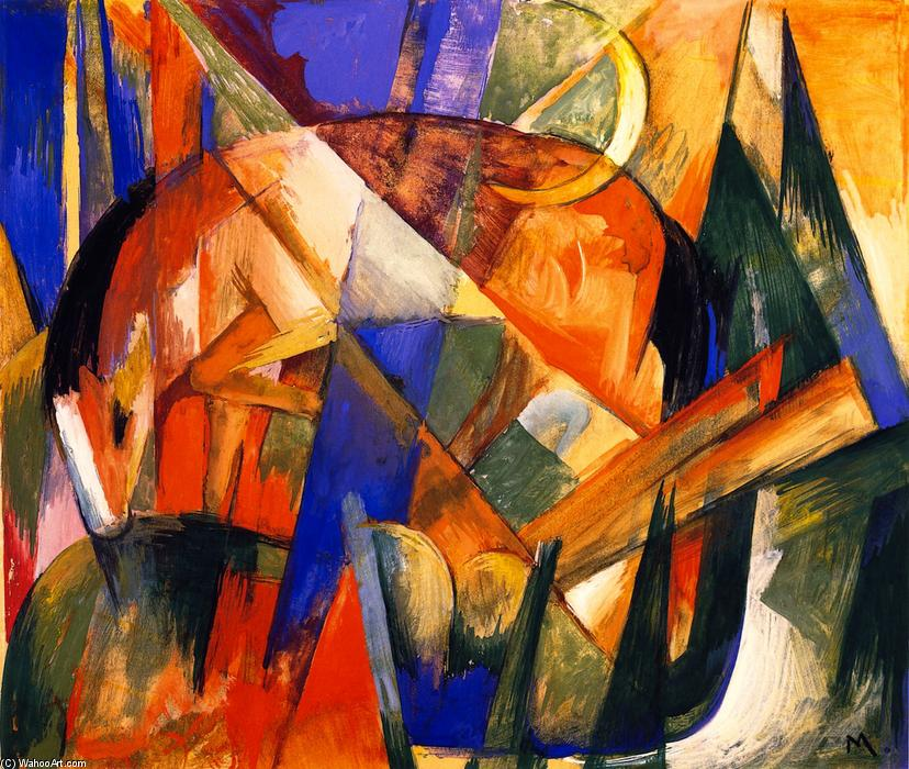 Fabulous Beast II (also known as Horse), Painting by Franz Marc (1880-1916, Germany)