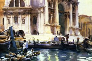 John Singer Sargent - The Façade of La Salute