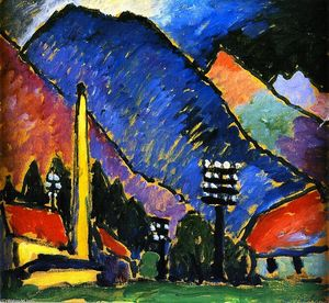 Alexej Georgewitsch Von Jawlensky - Factory in the Mountains
