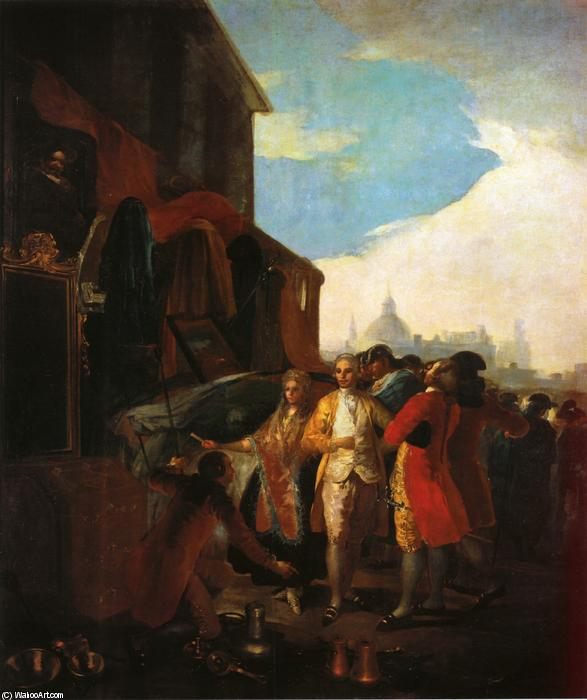 The Fair at Madrid, Oil On Canvas by Francisco De Goya (1746-1828, Spain)