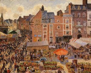 Camille Pissarro - The Fair, Dieppe: Sunny Afternoon