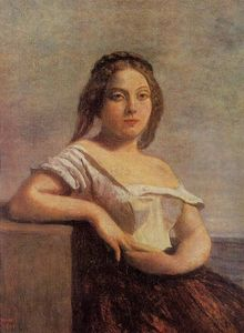 Jean Baptiste Camille Corot - The Fair Maid of Gascony (also known as The Blond Gascon)