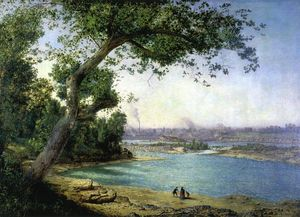 Alexander Helwig Wyant - Falls of the Ohio and Louisville